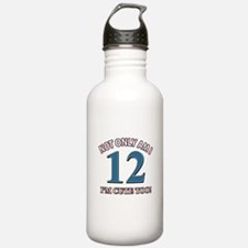 12 year old birthday designs Water Bottle