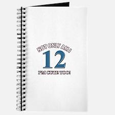 12 year old birthday designs Journal