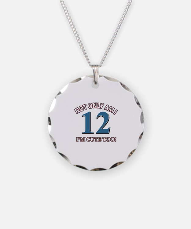 12 year old birthday designs Necklace