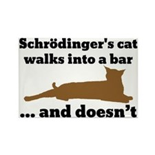 Schrödingers cat Rectangle Magnet