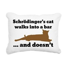 Schrödingers cat Rectangular Canvas Pillow