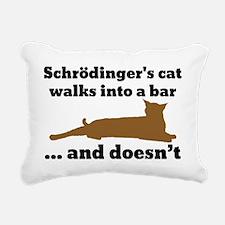 Schrödingers cat Rectangular Canvas Pillow