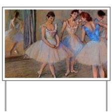 degas dancers with mirror copy Yard Sign