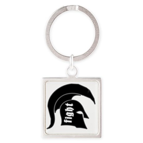 spartan1 Square Keychain