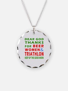 Beer Women and Triathlon Necklace
