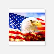 American Bald Eagle Collage Sticker