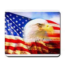 American Bald Eagle Collage Mousepad