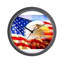American Bald Eagle Collage Wall Clock