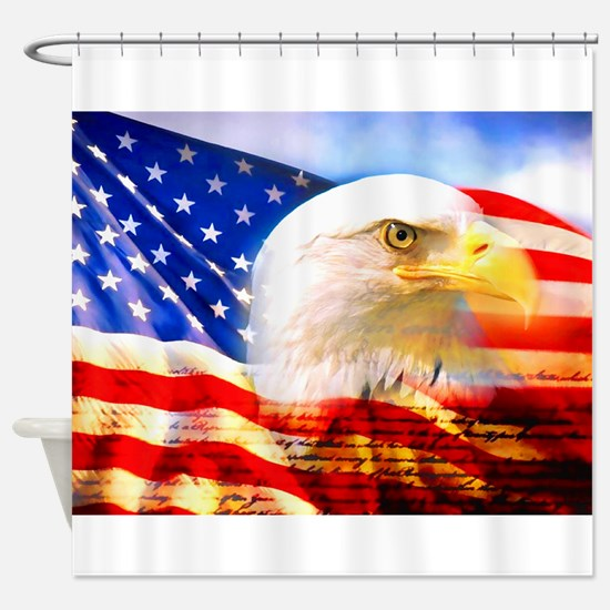 American Bald Eagle Collage Shower Curtain