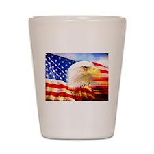 American Bald Eagle Collage Shot Glass