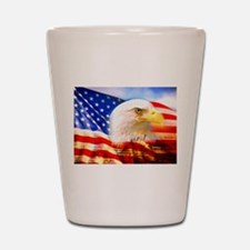 American Bald Eagle Collage Shot Glass