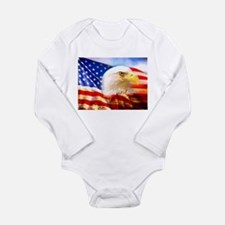 American Bald Eagle Collage Body Suit