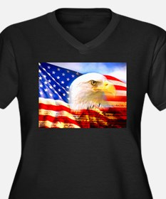 American Bald Eagle Collage Plus Size T-Shirt