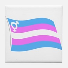 Transgender Pride v.2 Tile Coaster