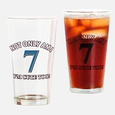 7 year old birthday designs Drinking Glass