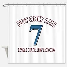 7 year old birthday designs Shower Curtain