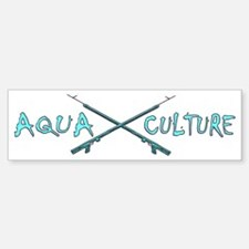 AQUA CULTURE SPEARGUNS aqua purpl Bumper Bumper Sticker