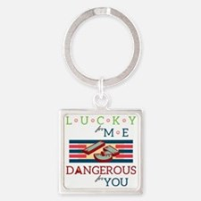 13th the Lucky Square Keychain