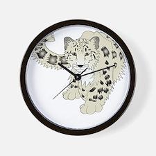 snowleoparddark Wall Clock