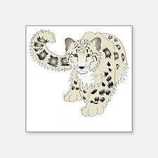 """snowleoparddark Square Sticker 3"""" x 3"""""""