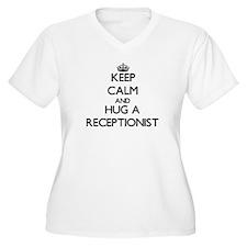 Keep Calm and Hug a Receptionist Plus Size T-Shirt