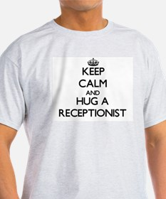 Keep Calm and Hug a Receptionist T-Shirt