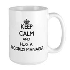 Keep Calm and Hug a Records Manager Mugs