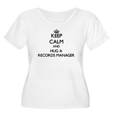 Keep Calm and Hug a Records Manager Plus Size T-Sh