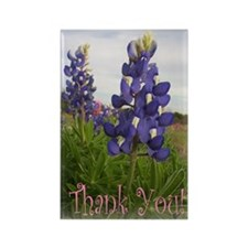 Bluebonnet Thank You! Rectangle Magnet