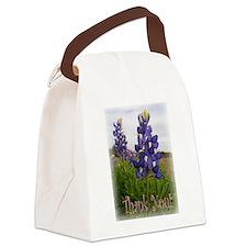 Bluebonnet Thank You! Canvas Lunch Bag