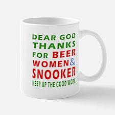 Beer Women and Snooker Small Small Mug