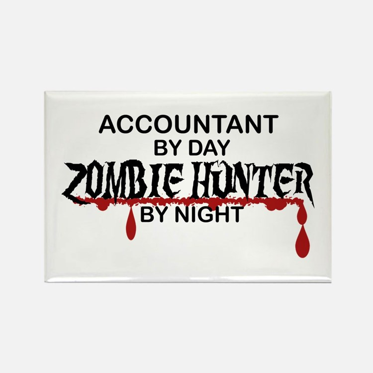Zombie Hunter - Accountant Rectangle Magnet