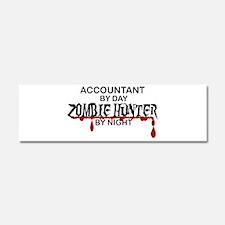Zombie Hunter - Accountant Car Magnet 10 x 3
