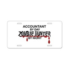 Zombie Hunter - Accountant Aluminum License Plate