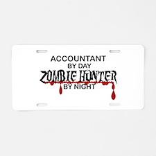 Zombie Hunter - Accountant Aluminum License Plate