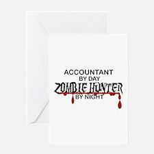 Zombie Hunter - Accountant Greeting Card