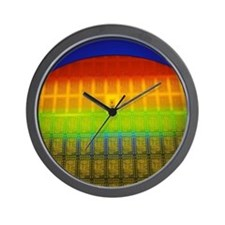 Silicon chip wafer Wall Clock