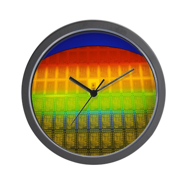 Semiconductor Wafer Cad : Silicon chip wafer wall clock by admin cp