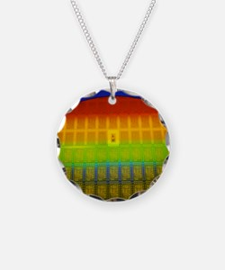 Silicon chip wafer Necklace
