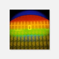 "Silicon chip wafer Square Sticker 3"" x 3"""