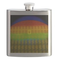 Silicon chip wafer Flask