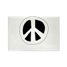 peace_onblack Rectangle Magnet