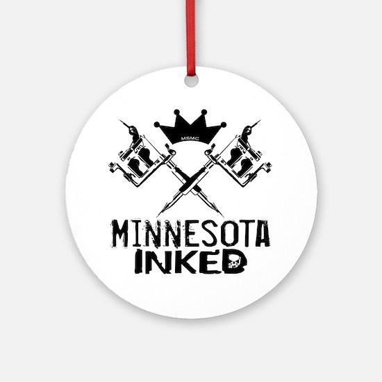 Minnesota Inked Round Ornament