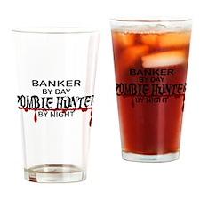 Zombie Hunter - Banker Drinking Glass