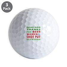 Beer Women and Shot Put Golf Ball