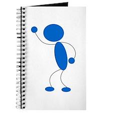 Blue Stickman Shouting Journal