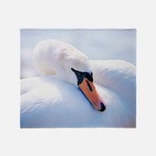 Mute swan Throw Blanket