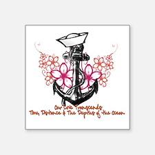 """Our Love Transcends Square Sticker 3"""" x 3"""""""