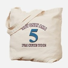 5 year old birthday designs Tote Bag