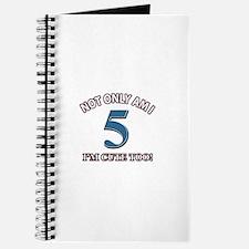 5 year old birthday designs Journal